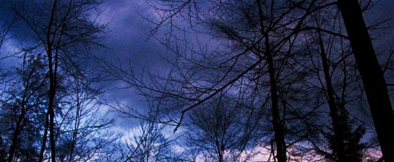 It was a dark and stormy night…