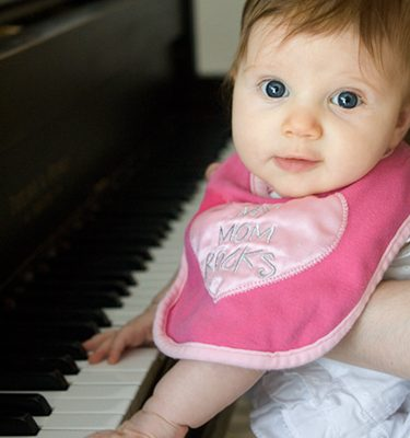 Mia at the piano