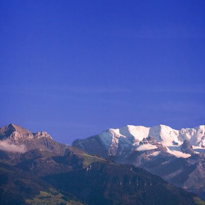 Moon over alps